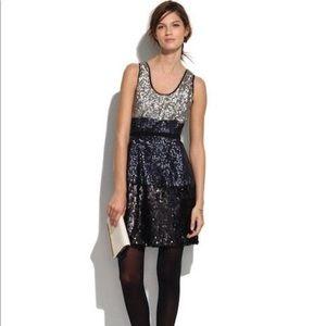 Broadway & Broome Colorblock Sequin Dress, Sz 0